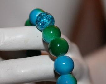 Green Pearl Bracelet, Green beaded Bracelet, green pearl jewelry, pearl jewelry green, pearl bracelet green, jewelry geen, bracelet green