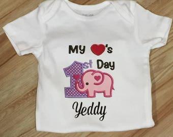 My first Valentine shirt