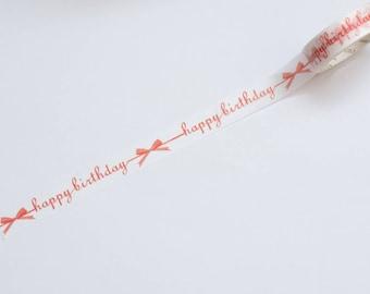 Washi tape Happy birthday