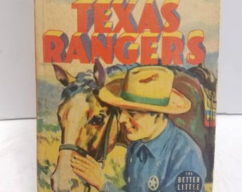 Vintage Antique  Lone Star Martin of the Texas Rangers 1939 Whitman  #1405 The Better Little Book. Illustrated