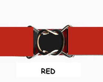"STRETCH BELT - RED 1"" Elastic * 3-Sizes for Kids & Adults *  Adjustable on Both Sides"