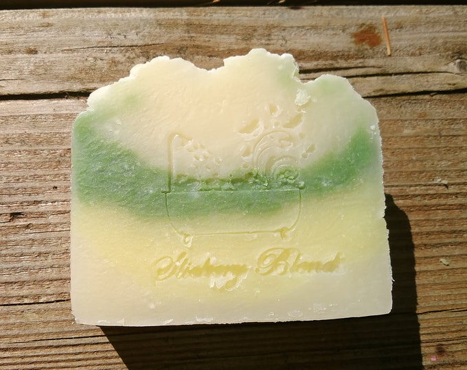 Sage and lemongrass scented cold process soap