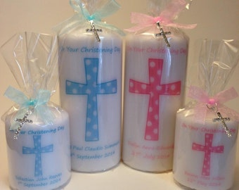 Personalised Christening / Baptism Candle Gift Boy OR Girl