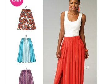 McCall's M6931 Size 4-14 Misses' Gathered-Waist Skirts Sewing Pattern / Uncut/FF