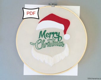 Merry Christmas Embroidery Pattern • PDF Download