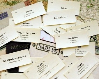 One Dozen Vintage German Flash Cards