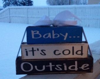 Winter blocks---Baby its cold outside blocks