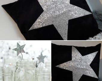 Black Suede pillow with his big Silver Star