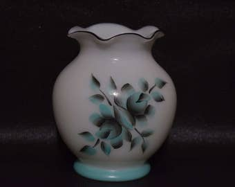 Pretty Painted Floral Vase