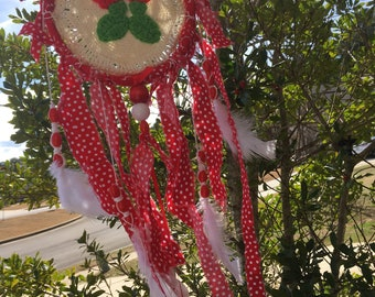 Strawberry and Polka Dots Dream Catcher