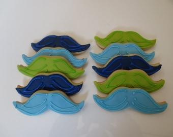 Mustache Party Favor Cookies -  Handmade - Kosher - 1 Dozen