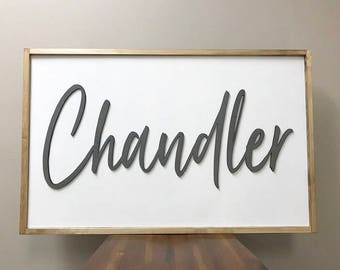 Large Custom Name Sign