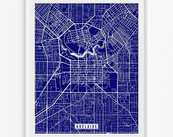 Adelaide Print, Australia Poster, Adelaide Map, Adelaide Poster, Australia Print, Australia Map, Street Map Print, Fathers Day Gift