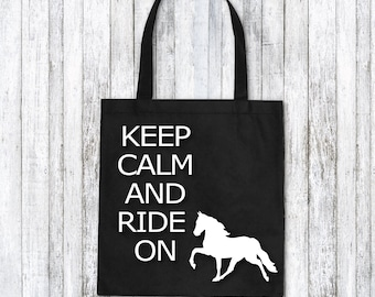 Tote bag - Equestrian gift idea - Horse lover gift idea - I love horses - horse lover birthday - horse rider gift
