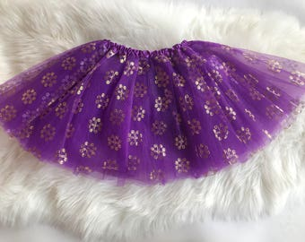 Purple 4 Hearts Hmong Tutu Skirt