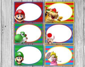 Mario Food Tags/Labels (Digital)