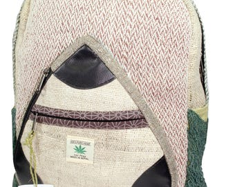 Handmade Hemp & cotton Backpack Type- 5