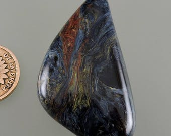 Pietersit Cabochon, blau und Gold Cabochon, Entwerfer Pietersit, Geschenk Pietersit, C2793, von Hand geschnitten von 49erMinerals