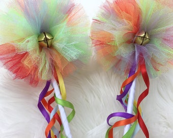 Rainbow wand- fairy wand- costume wands
