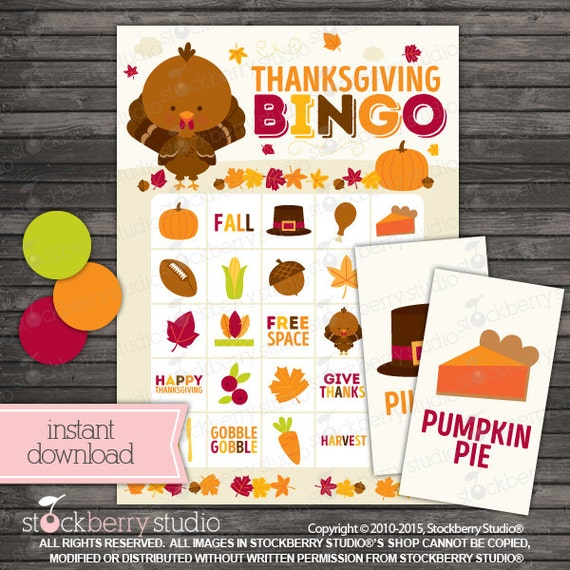 This is an image of Refreshing Thanksgiving Bingo Cards Printable