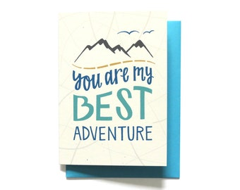 Adventure Love Card - Love Card - I love you card - Love Card - You Are My Best Adventure - Anniversary Card - Valentine Card - LV8