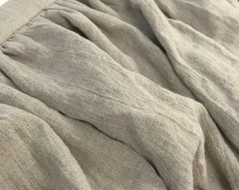 Lined Gathered Linen dust ruffle cottage farmhouse