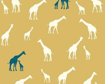 Serengeti - Giraffe Fam Sun - Jay-Cyn Designs - Birch Fabrics (SG-11-Sun) - Organic Cotton