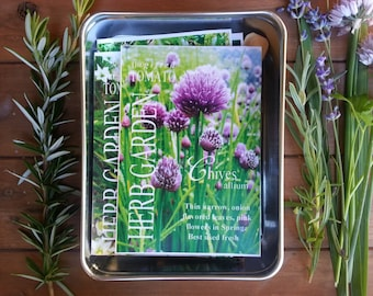 Herb garden kit, 7 packets of organic herbs, gardening gift, herb seeds, holiday gift for coworker indoor herb garden, seed gift for hostess