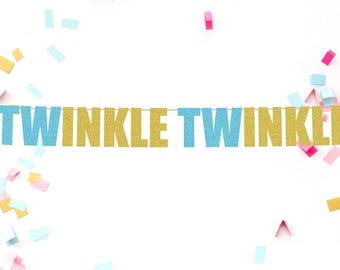 Twinkle Twinkle banner | baby shower decorations | baby shower | glitter banner | baby shower banner | birthday banner