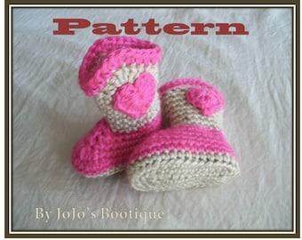 "PDF Cowboy Boots PATTERN - Girl Cowboy Boot Pattern - Crochet Sweetheart Baby Cowboy ""Boot""ies- Crochet Booties Pattern - by JoJosBootique"