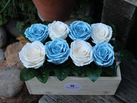 Mothers day flower box wood flower box rose box crepe paper mothers day flower box wood flower box rose box crepe paper flower valentines flower arrangement birthday gifts wood planter box from mpaperflowers mightylinksfo