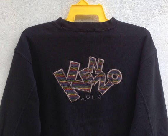 Rare!! Kenzo Golf Sweatshirt Spell Out Embroidered sweater