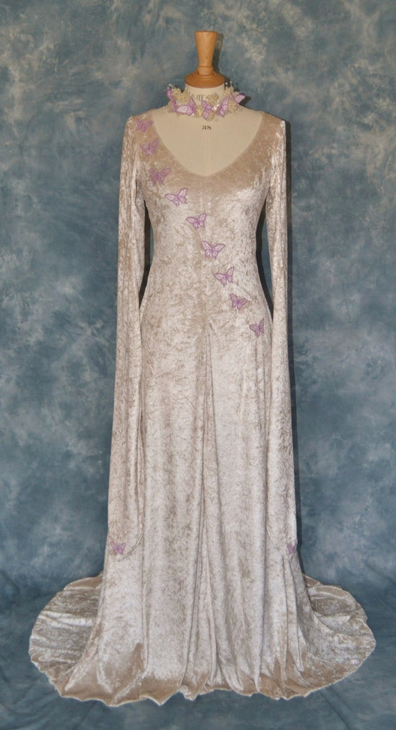 Melisande A Fantasy Faery Elvish Medieval Wedding Dress
