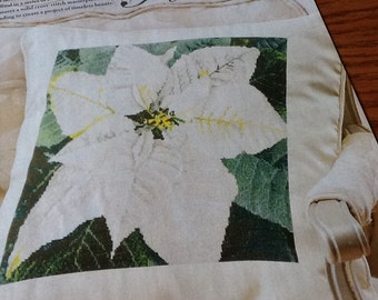 P - POINSTTIA PILLOW - Cross Stitch Pattern Only