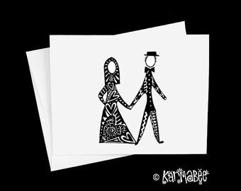 Wedding Card Single Notecard Blank Inside