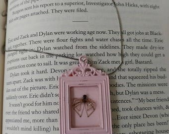 Real Insect Spider Necklace