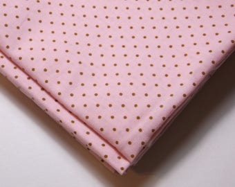 Sugar Plum Christmas by Bunny Hill Designs for Moda Fabrics, Pink with brown dots, 100% High Quality Cotton By the FQ 1/4 yd