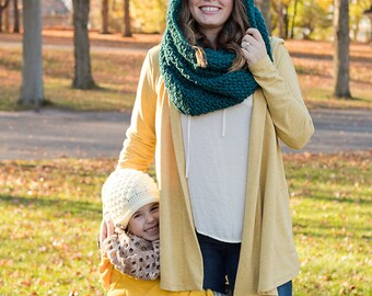 Women's Hooded Scarf - Crochet Oversized Hood - Women's Hooded Cowl Scarf - Crochet Oversized Scarf - Crochet Scoodie - Gift for Women