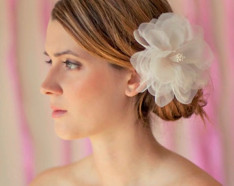 Ailsle - Bridal, Bridesmaid Silk Flower Hair Piece