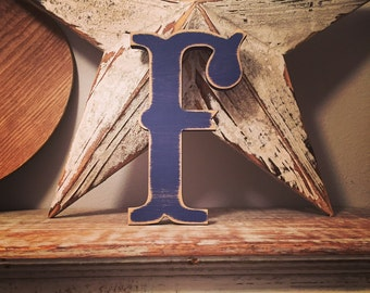 Painted Wooden Letter - Large F, Circus Font, 40cm high, 16 inch, any colour, wall letter, wall decor, 18mm
