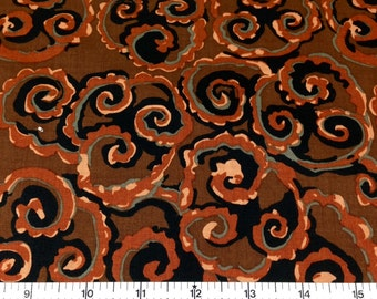 Westminster COSMOS (BROWN color) 100% Cotton Premium Fabric - sold by 1/2 yard