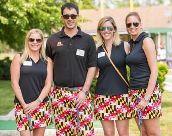 Maryland Flag Inspired Women's Skort / Skirt