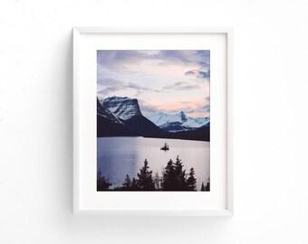 """landscape photography, large landscape wall art, mountain landscape, large prints, large wall art, large art, glacier park - """"Wild Places"""""""