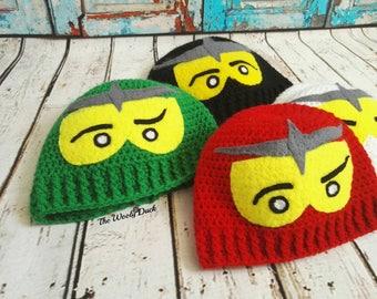 NinjaGo inspired character hat, handmade