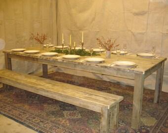 "Driftwood Table, Beach House Table (108""L x 42""W x 29""H)"