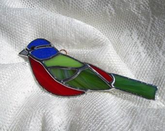 Painted Bunting Ornament / Suncatcher