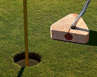 Handcrafted Figured Maple Wood and Bloodwood Golf Putter