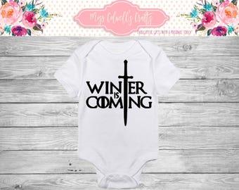 Winter Is Coming Baby Onesie- TV Inspired Bodysuit