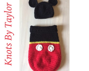 Mickey Mouse Baby Cocoon & Hat
