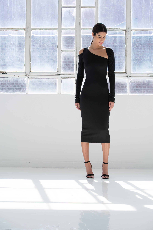 LBD / Long Sleeve Dress / Cocktail Dress / Black Dress / Party
